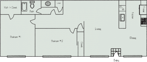 2 Bed / 1 Bath / 1,010 sq ft / Deposit: $400 / Rent From: $1,310 - $1,545